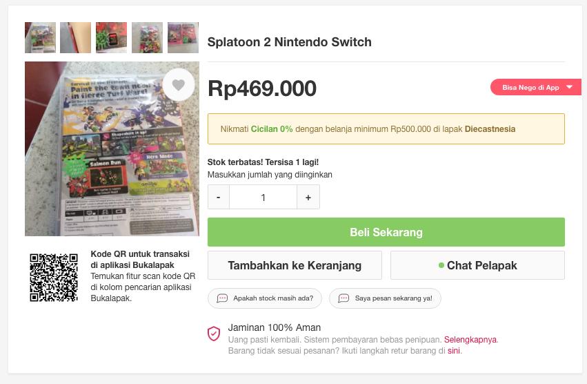 nintendo switch games - splatoon 2